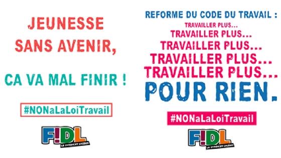 La FIDL s'oppose à la précarité pour tous!